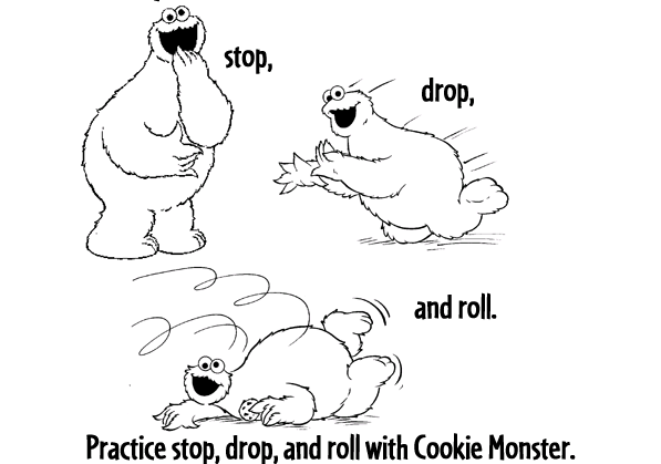 Stop Drop And Roll Coloring Page Stop_drop_roll